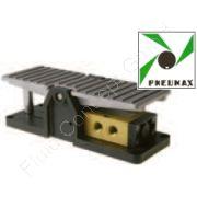5/2-Wege Fußventil/Pedalventil, mit Federrückstellung, monostabil, G 1/8 Zoll, DN 6, 0-10 bar, Dichtung NBR