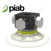 Piab kompletter Saugnapf/Greifer F30MF, Thermoplastisches Polyurethan, Befestigung G1/8 Zoll Außengewinde, Durchmesser Ø32mm, flache Ausführung, rund, Härtegrad 81° Shore, mit Filtersieb