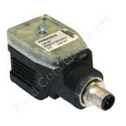 ASCO Digitaler Steckerverstärker, zur Ansteuerung Ventile Baureihe 202, 203 und 602, PA, NBR, 24 VDC/2.5A, Zeitrampe 50ms bis 5s, IP65, LED, Anschluss M12-5 polig, X90850164500200