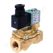 Magnetventil, ASCO SCE238, G 1 Zoll, DN 25, 2-Wege, stromlos geschlossen NC, vorgesteuert, Messing, 24V/AC (50/60Hz), 0.3-16 bar, Dichtung NBR, mit Gerätestecker