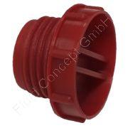 Gewindestopfen, Gewindeschutzkappe, G 1 Zoll, Kunststoff, Flanschstärke 7.6mm, Flanschdurchmesser 40.6mm
