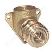 Wanddose/Luftweiche mit Schnellkupplung, G 1/2 Zoll, Messing, 1 Abgang, Nennweite 7,2 mm