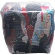 Industrie-Putzlappen DIN 61650, Typ Trikot bunt, 10 kg Ballen