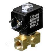 Magnetventil für Hochdruck, ACL E106, G 1/4 Zoll, DN 1.2, 2-Wege, stromlos geschlossen NC, direkt betätigt, Messing, 24V/DC, 0-100 bar, Dichtung PTFE, Spulenklasse H