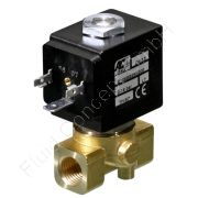 Magnetventil für Hochdruck, ACL E106, G 1/4 Zoll, DN 1.0, 2-Wege, stromlos geschlossen NC, direkt betätigt, Messing, 24V/DC, 0-100 bar, Dichtung FKM, Spulenklasse H
