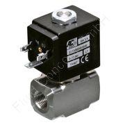 Magnetventil für Hochdruck, ACL D110, G 1/4 Zoll, DN 1.2, 2-Wege, stromlos geschlossen NC, direkt betätigt, Edelstahl 1.4305 (AISI303), 24V/DC, 0-100 bar, Dichtung FKM, Spulenklasse H