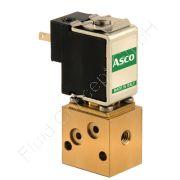 Magnetventil, ASCO/Sirai V162B02, Mini-Ausführung, M5, DN 2, 2-Wege, stromlos geschlossen NC, direkt betätigt, Messing, 24V/DC, 0-6 bar, Dichtung FKM/NBR, Flansch verblockbar, IP40