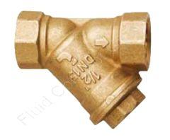 Schrägsitz Schmutzfänger, Messing, G 3/8 Zoll, 20 bar, Maschenweite 500 µm, Sieb auswechselbar, DN10, -20°C bis +110°C
