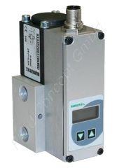 Proportionalventil zur Druckregelung, ASCO Sentronic 614, G 1/4 Zoll, DN 6, 3/2-Wege, Aluminium, 24V/DC, 0-3bar, Dichtung FKM/NBR, Sollwert 0-10V, Istwertausgang 0-10V, M12 Leitungsdose, Druckschalterausgang PNP, Display
