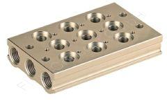 Ventilleiste/Grundplatte 8-fach, G 1/8 Zoll, Aluminium