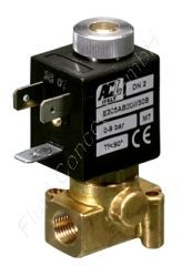 2/2-Wege Magnetventil, G 1/8 Zoll, stromlos offen, direkt betätigt, Messing, 230V/AC (50/60Hz), 8 bar, Dichtung FKM, DN 2